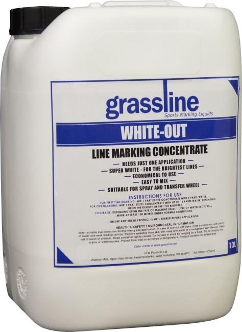 Grassline white out line marker paint 10l line marking for White line marker paint
