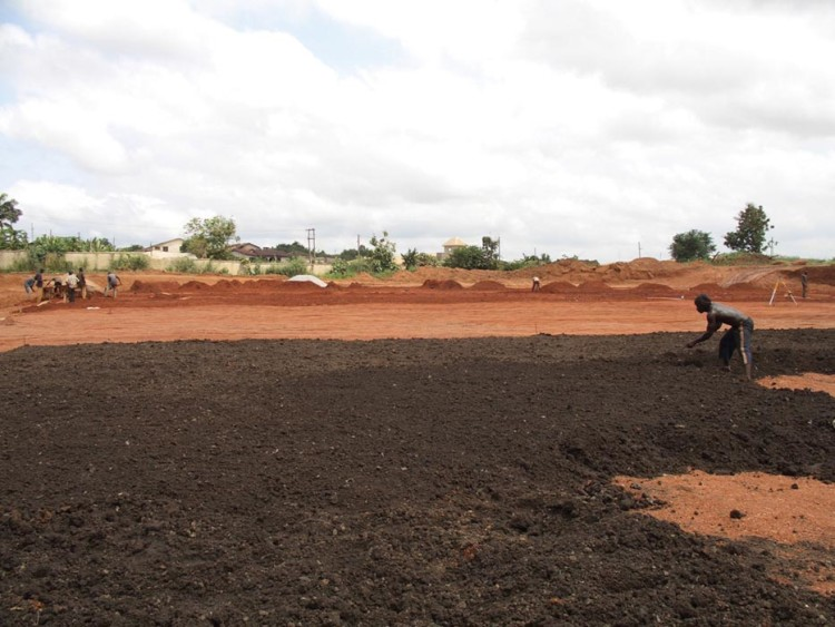 Building for the african cup of nations pitchcare for Soil grading
