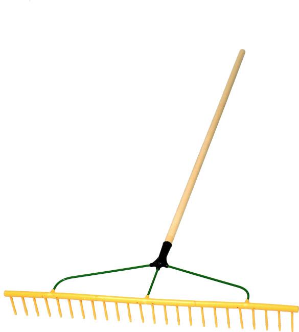 Large polypropylene 24p soil bunker rake lawn rakes for Large rake garden tool