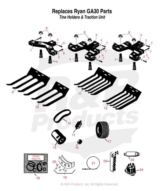 Ryan Ga30 Owners Parts Manual