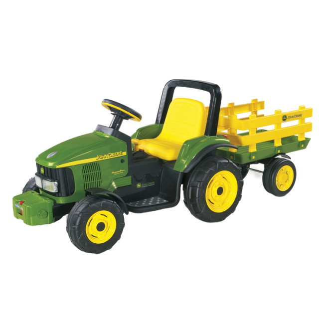 Power Wheels Tractor Pull : John deere power pull tractor and trailer electric ride