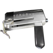 Lever & Shut off Assembly of the EarthWay 3100 Professional Hand Crank Broadcast Spreader