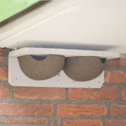 Double WoodStone House Martin Nest