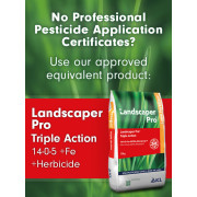No Professional Persticide Application Certificate? Use Landscaper Pro Triple Action