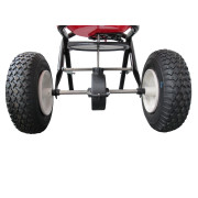 Pneumatic Wheels of the EarthWay 2150 Spreader