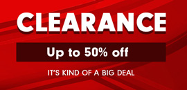 Clearance - up to 50% off