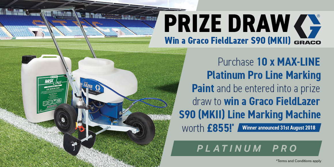 Graco Prize Draw - Purchase 10 x Maxline Platinum Pro Line Marking Paint and be entered into a prize draw to win a Graco FieldLazer S90 (MKII) Line Marking Machine wirth £855!