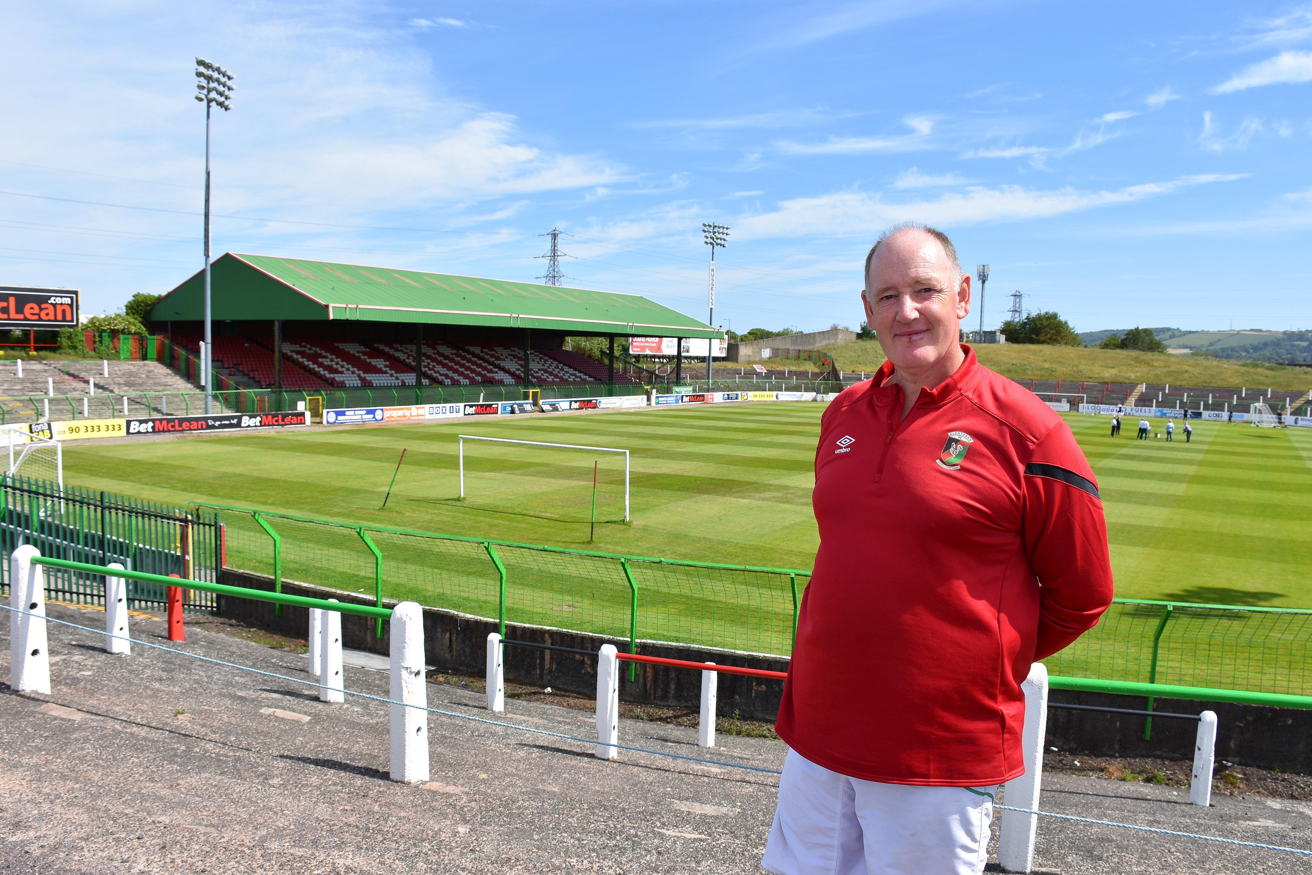 Glentoran Football Club - Presenting the perfect pitch Background
