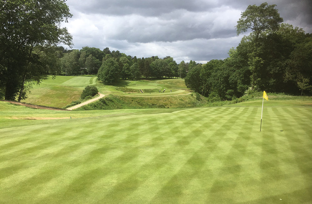 Mark's elevated position at Prestbury Golf Club Background