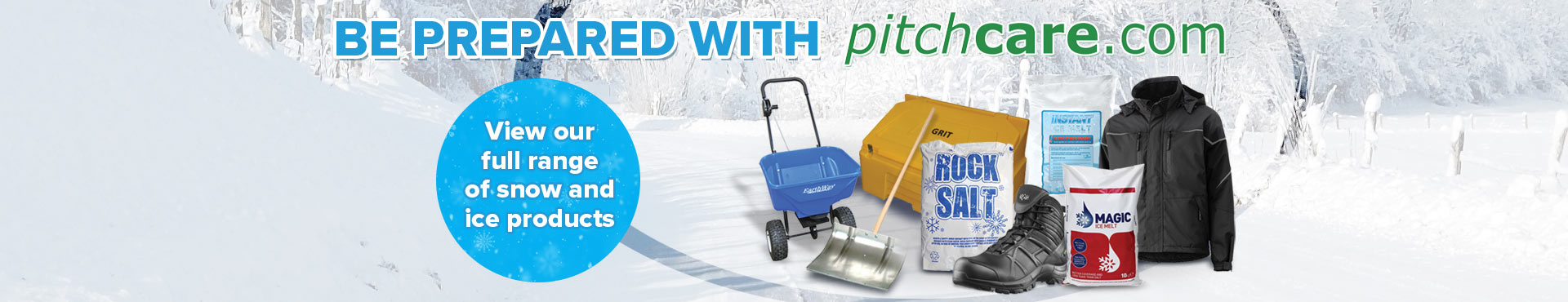 Ice and Snow Removal   Pitchcare Shop Banner