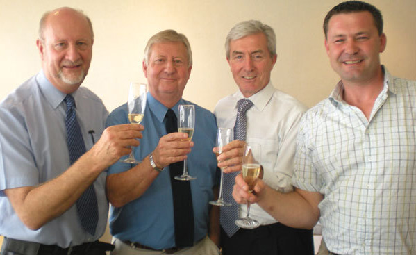 L-R: Jonathan Carr, Bob Bolland, John Richards and Dave Saltman