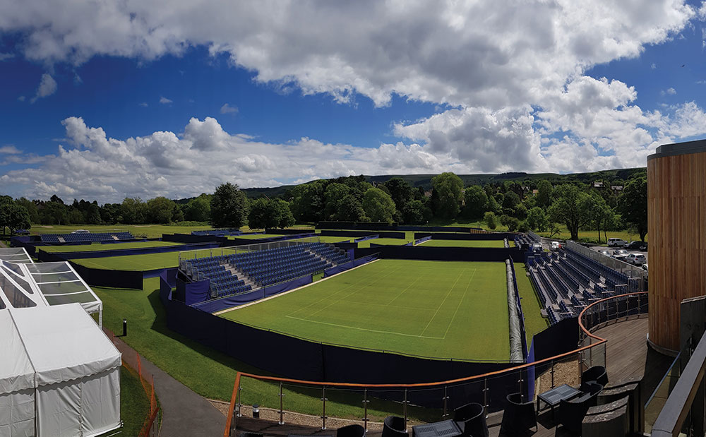 Lording it over Ilkley Lawn Tennis and Squash Club Background