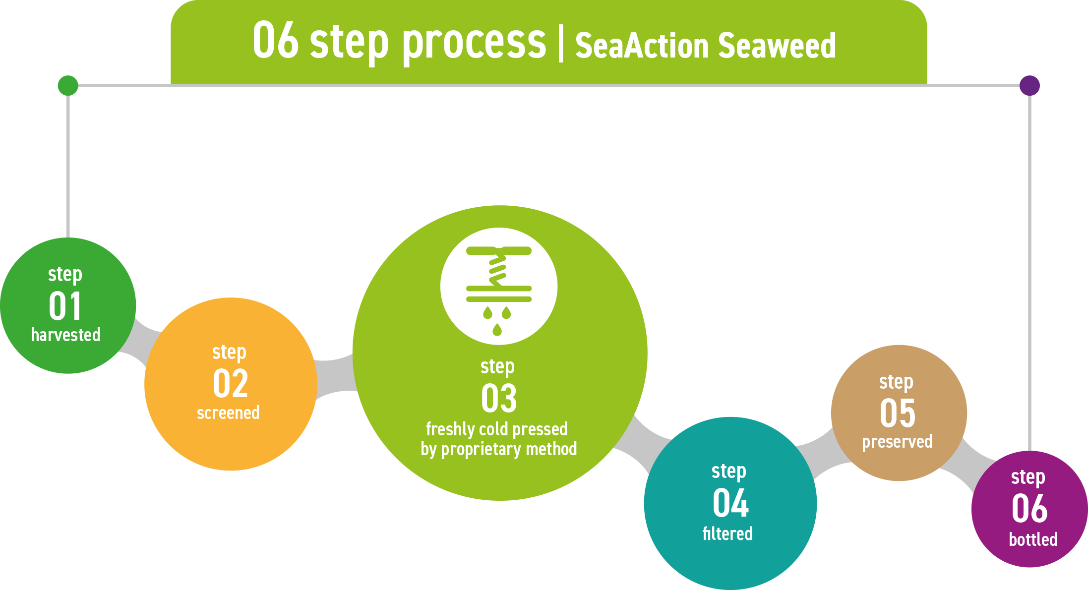 Various extraction methods for seaweeds - SeaAction available from Pitchcare.com