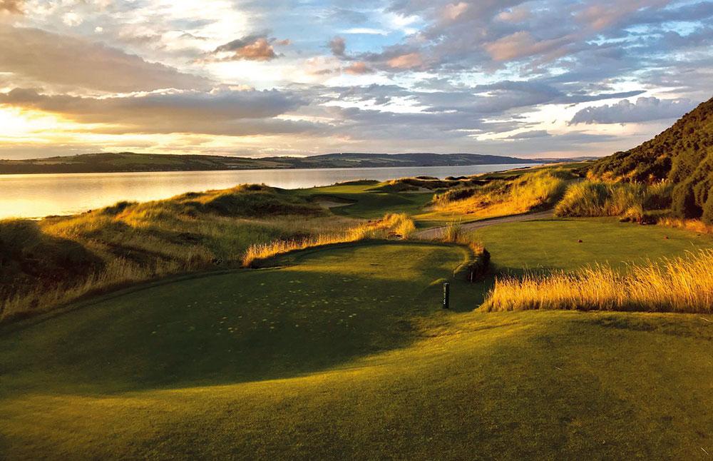 Highland hopes at Castle Stuart Golf Links Background