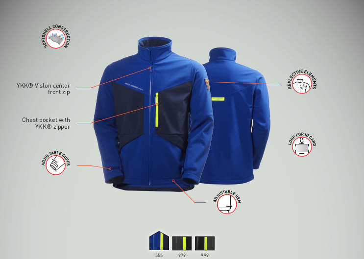 Helly Hansen Aker Softshell Jacket Features