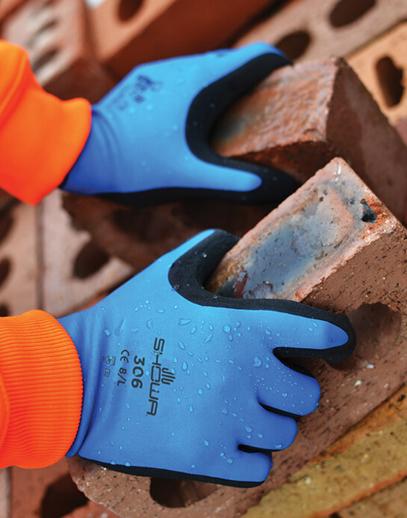 SHOWA 306 Gloves in action