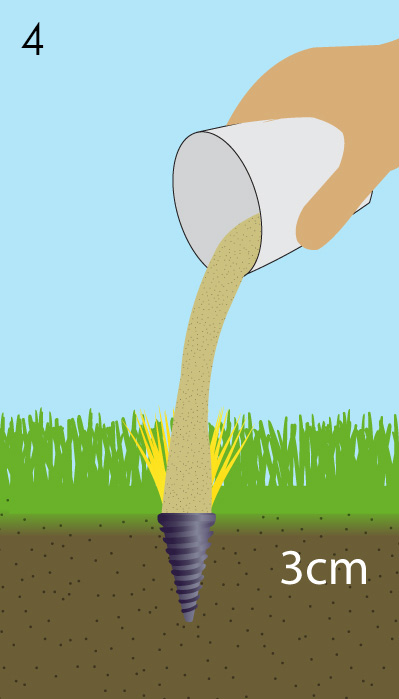 Step4 Installation of Plifix Grass Tufts