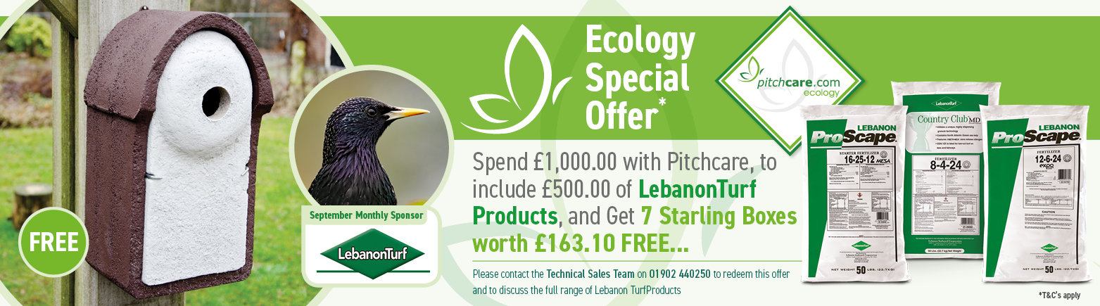 Pitchcare Ecology Promotion for August