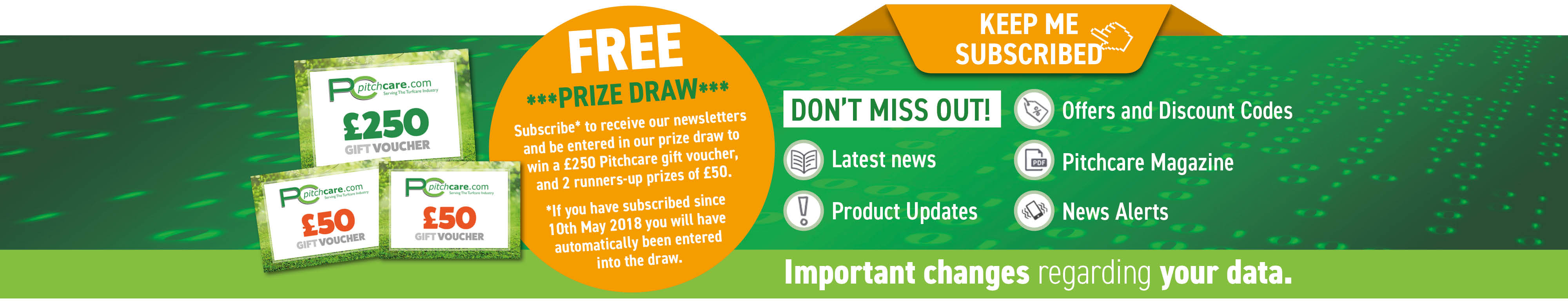 GDPR PC Shop Free Prize Draw Slider