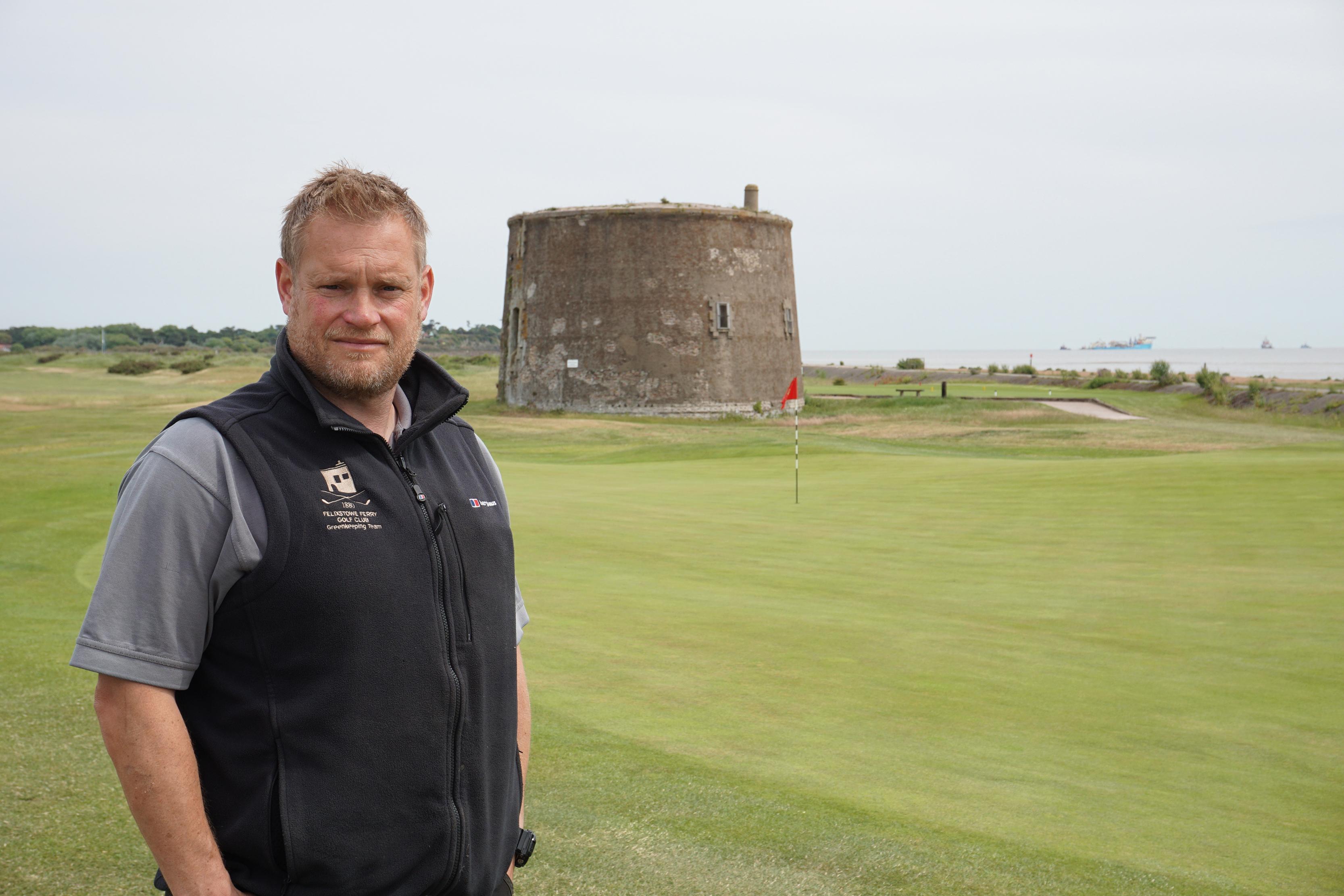 Felixstowe Ferry Golf Club - Glenn Rayfield making his own mark Background