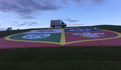 Sportworks provided the Lions Crest Banner for Carton House