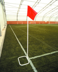 22mm Flexible Corner Poles, Bases and Flags