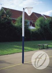 NBL-051 Standard Netball Post Protector White-navy Blue 72dpi