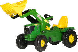 john deere 6210 with loader and plastic wheels