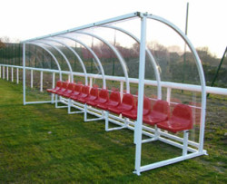 Premier Curved Team Football Shelters