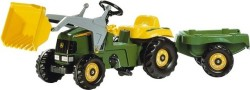 John Deere Rolly kid Pedal Tractor & Trailer with Front Loader