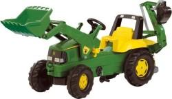 Rolly Junior John Deere With Frontloader & Rear Excavator