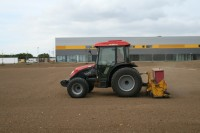 Speedcut at work on the new pitches at Futures College in August