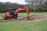 Speedcut create a new bunker at The Leatherhead Golf Club, Surrey DSC 0566