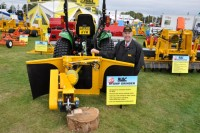 Gary Mumby with the new Compact Stumpgrinder at IOG Saltex 2011 DSC 0279   Copy