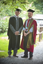 Neil Stubley with course tutor Dr Andrew Owen