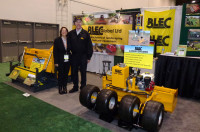 Sue and Gary Mumby on the BLEC stand at GIS, Las Vegas P1040076