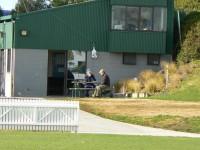 The famous groundsmans hut at Seddon Park