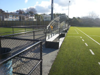 Think about style, quality and position of dugouts, fences and access gates