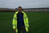 Futures College Martin O\'Brien, property manager, on the Speedcut built pitches