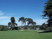 Lakemerced 2nd green from fairway