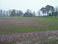 Sedbergh School rugby pitch before