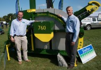 Richard Clark & Mick Claxton with the award winning Supertrencher+ 760