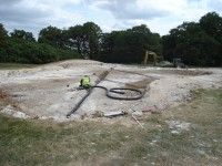Grassform Ltd. Luton Hoo laying pipes on green construction.jpg