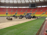 Laying turf on pitch at Luzhniki Stadium Moscow for Champions League Final 08.jpg