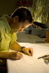 JG at drawing board (648 x 972)