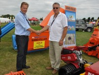GKB Sandfiller sold at Saltex to Peter Knight, right, of Bury Turfcare, on the BLEC stand with GKB\'s Jan Willem Kraaijeveld DSC 0016