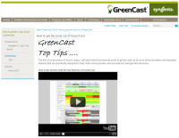 GreenCast screen