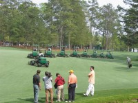 Mowing back 13 fairway, with BBC filming (Large).jpg