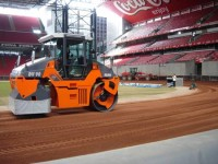 Speedway track consolidation-Over my pitch!