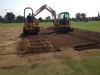 2. Digging out topsoil for the new pitches